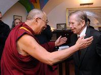 Le dalaï-lama a été accueilli par Václav Havel, photo: CTK