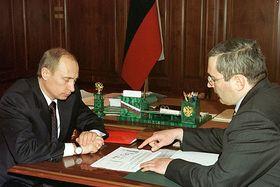 Владимир Путин и Михаил Ходорковский, 2002, фото: Kremlin.ru, CC BY 4.0