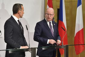 Bohuslav Sobotka and Christian Kern, photo: ČTK