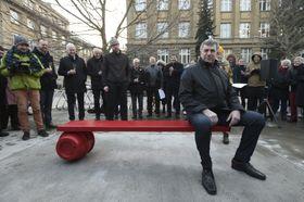 Ferdinand Vaněk bench, photo: CTK