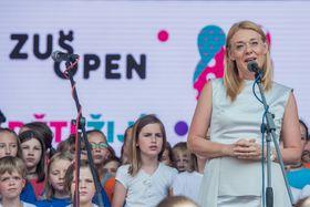 Магдалена Кожена на хепенинге ZUŠ Open, фото: ЧТК/Петрашек Радек