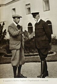 Karel Čapek et Tomáš Garrigue Masaryk, photo: repro 'Hovory s T. G. Masarykem'