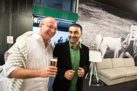 Георгий Овашвили (справа) и французский продюсер Гийом де Сей, Фото: Film Servis Festival Karlovy Vary