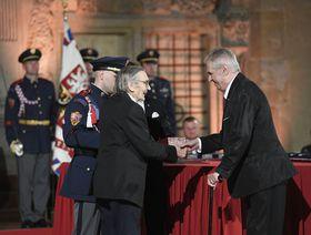 Karel Lánský, Miloš Zeman, photo: ČTK/Ondřej Deml