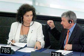 Vladimír Železný aJana Bobošíková, foto: ČTK