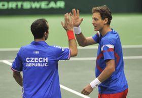 Radek Štěpánek y Tomáš Berdych, foto: ČTK