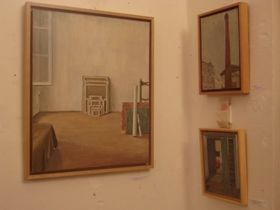 Toiles d'Antonín Sladek à la galerie Ztichlá Klika