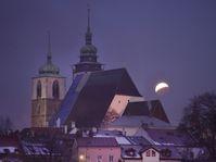 Úplné zatmění Měsíce , foto: ČTK/Pavlíček Luboš