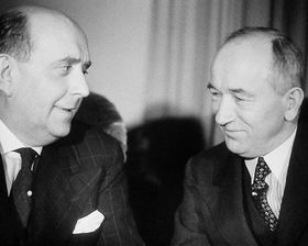 Jan Masaryk et Edvard Beneš, photo: ČT