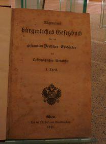 Le code civil de l'Empire austro-hongrois, photo: D.W.