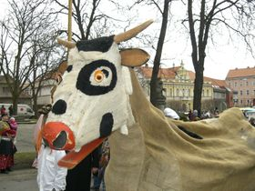 Las tradicionales máscaras de Milevsko, foto: Chmee2, CC BY-SA 3.0