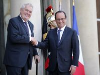 Miloš Zeman et François Hollande, photo: ČTK