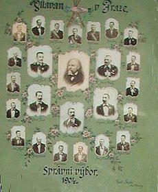 Správní výbor Vltavanu, tablo zroku 1904