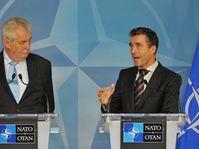 Miloš Zeman et Anders Fogh Rasmussen, photo: CTK