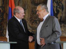 Ivan Mrkić, Karel Schwarzenberg, photo: CTK