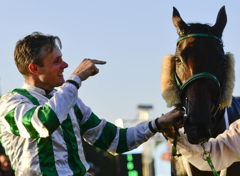 Josef Bartoš y el caballo Theophilos, foto:  ČTK/Vondrouš Roman