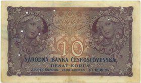 Zehn Kronen mit der grafischen Gestaltung von Alfons Mucha