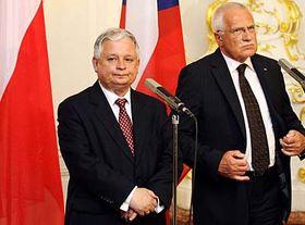 Lech Kaczynski y Vaclav Klaus (Foto: CTK)