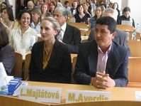 Lucia Majlátová y Miguel Ayerdis
