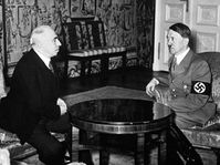 Emil Hácha and Adolf Hitler