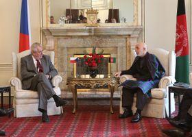 Miloš Zeman, Hamid Karzai, foto: ČTK
