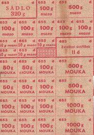 Rationierungssystem (Foto: Archiv des Staatlichen Bezirksarchivs České Budějovice)