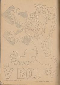 Лицевая сторона обложки журнала V boj 1940 года, foto: volné dílo