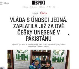 Фото: официальный сайт журнала Respekt