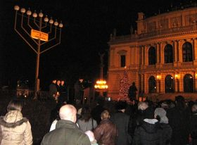 Menorah lighting ceremony, photo: author