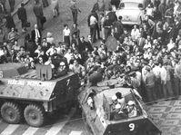 Agosto de 1969 en Praga, foto: Muzeum policie ČR