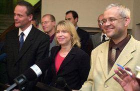 Cyril Svoboda, Hana Marvanová y Vladimír Spidla, Foto: CTK