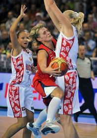 Yelena Danilochkina (Russia), Hana Horáková (Czech Republic) and Maria Stepanova (Russia), photo: CTK