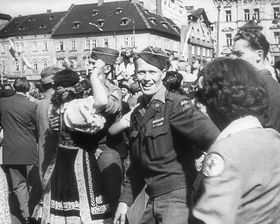 The liberation of Czechoslovakia in 1945, photo: ČT