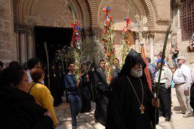Пасхальное шествие перед Храмом Гроба Господня, Иерусалим, Фото: Архив Эвы Туречковой