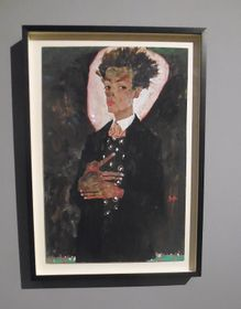Egon Schiele, Autoportrét, foto: Miroslav Krupička