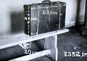 The original suitcase in which the body of Otýlie Vranská was found, photo: Prague Police Museum archive