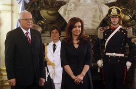 Václav Klaus y Cristina Fernández de Kirchner, foto: ČTK