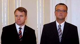 Martin Bursík (vlevo) aMiroslav Kalousek, foto: ČTK