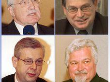 Vier Präsidentschaftskandidaten