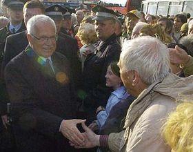 Presidente checo Václav Klaus en Pilsen (Foto: CTK)
