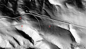 Laser scanner generated map of a bundle of trails, photo: archive of Centre for Transport Research