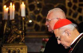 Václav Klaus and Miloslav Vlk, photo: CTK
