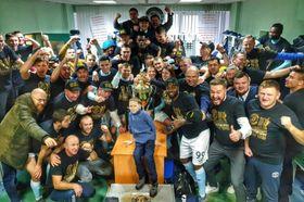 Le Dinamo Brest a décroché le premier titre de champion national de son histoire, hoto: twitter.com/FC Dynamo Brest