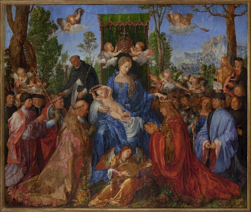 """Альбрехт Дюрер, """"Праздник венков из роз"""", 1506, фото: Архив Национальной галереи в Праге"""
