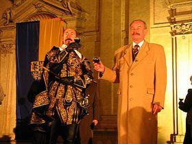 The ceremonial opening of the exhibition; Albrecht of Wallenstein and Premysl Sobotka