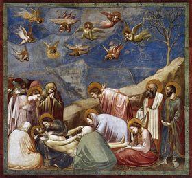 Положение во гроб, Джотто ди Бондоне