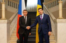 премьер-министр Чехии Андрей Бабиш и премьер-министр Украины Алексей Гончарук, фото: Twitter Andreje Babiše
