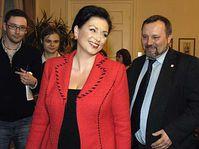 Jana Bobošíková et Pavel Kováčik, photo: CTK