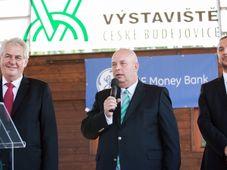 Miloš Zeman, Karel Toman y Juraj Thoma, foto: ČTK
