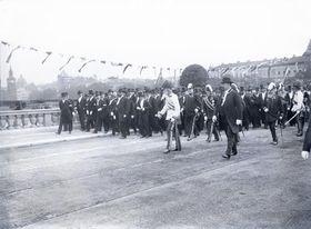 Открытие моста им. императора Франца в Праге, 1901 г., фото: Scheufler Collection, открытый источник